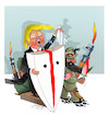 Cartoon: Trump and Afghanistan! (small) by Shahid Atiq tagged afghanistan,balkh,helmand,kabul,london,nangarhar,and,ghor,attack