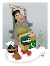 Cartoon: Warlords and Afghan Election ! (small) by Shahid Atiq tagged afganistan