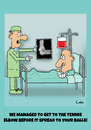 Cartoon: Funny Medical Surgeon cartoon (small) by The Nuttaz tagged injury,surgeon,doctor,hospital,sick,tennis,elbow,medical