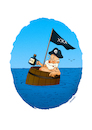Cartoon: Pirate (small) by stewie tagged pirate
