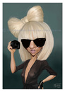 Cartoon: Lady Gaga (small) by jmborot tagged lady,gaga,caricature,jmborot