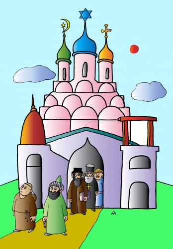 Cartoon: New Church (medium) by Alexei Talimonov tagged church,religion