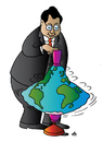 Cartoon: China and Earth (small) by Alexei Talimonov tagged china