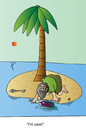 Cartoon: I am saved (small) by Alexei Talimonov tagged save,island