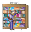 Cartoon: Library (small) by Alexei Talimonov tagged library,books,literature,crime
