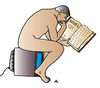 Cartoon: tv book (small) by Alexei Talimonov tagged tv book reading television man thinking