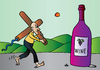 Cartoon: Wine (small) by Alexei Talimonov tagged wine