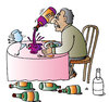 Cartoon: Wine (small) by Alexei Talimonov tagged wine,drinking,alcohol