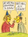Cartoon: glas (small) by Peter Thulke tagged silvester