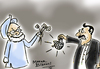 Cartoon: India-pakistan relation (small) by mangalbibhuti tagged india,pak,manmohan,jardari,mangal,bibhuti,mangalbibhuti