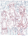 Cartoon: Crowd Sketch (small) by Cartoons and Illustrations by Jim McDermott tagged sketchbook,people,crowd
