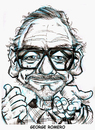 Cartoon: George Romero (small) by Cartoons and Illustrations by Jim McDermott tagged georgeromero,zombie,caricatures,horrormovies,scary