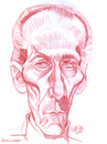 Cartoon: Peter Cushing (small) by Cartoons and Illustrations by Jim McDermott tagged caricature,movies,linedrawing,horror,fantasy