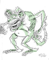 Cartoon: Rat Thing (small) by Cartoons and Illustrations by Jim McDermott tagged rat,scary,animals,monster,horror