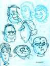 Cartoon: Sketchbook Faces (small) by Cartoons and Illustrations by Jim McDermott tagged sketchbook,people,crowd,faces