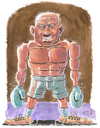 Cartoon: The Boxer (small) by Cartoons and Illustrations by Jim McDermott tagged sports boxing
