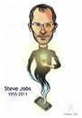 Cartoon: Steve Jobs 1955-2011 (small) by gilderic tagged gilderic,illustration,caricature,portrait,steve,jobs,apple,iphone