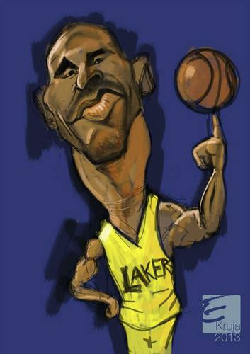 Cartoon: kobe bryant (medium) by elidorkruja tagged kobe,bryant
