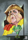 Cartoon: Angel Merkel (small) by elidorkruja tagged angel,merkel