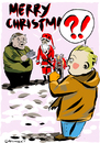 Cartoon: merry christmas (small) by mitsobo tagged satira