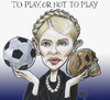 Cartoon: toplay or not to play (small) by jean gouders cartoons tagged football,timochenko