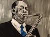 Cartoon: saxofonist (small) by cornagel tagged sax