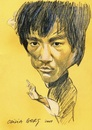 Cartoon: Bruce Lee (small) by Otilia Bors tagged bruce,lee