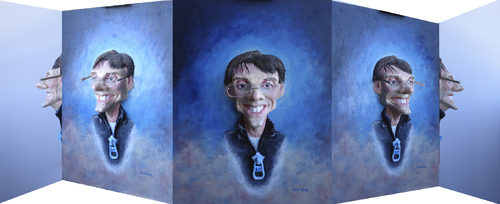 Cartoon: portraitpitch Panoramic (medium) by lloyy tagged portraitpitch,3d,real,caricature