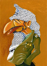 Cartoon: Arafat (small) by lloyy tagged olp,palestine,politics,politica,caricature,caricatura,famous