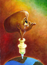 Cartoon: NKOSI JOHNSON (small) by lloyy tagged aids,salud,caricatura