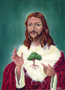 Cartoon: Sacred heart (small) by lloyy tagged sacred,heart,ecology