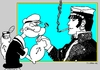 Cartoon: Two Sailors (small) by srba tagged popeye,corto,armwrestling,comics
