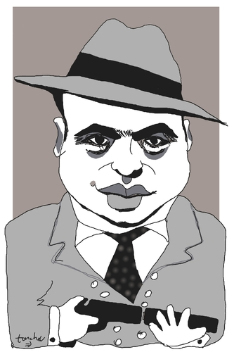 Cartoon: Al Capone (medium) by Bravemaina tagged capone