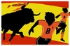 Cartoon: Running scared (small) by Bravemaina tagged spain netherlands soccer football world cup