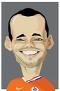Cartoon: Wesley Sneijder (small) by Bravemaina tagged wesley sneijder netherlands holland soccer football dutch