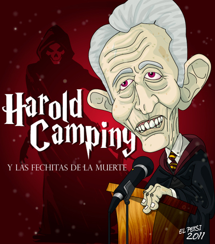 Cartoon: HAROLD CAMPING (medium) by ELPEYSI tagged harold,camping