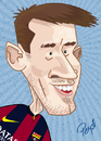 Cartoon: Messi (small) by ELPEYSI tagged leo,liomessi,messi,10,barca,pulga,argentina