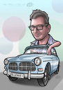 Cartoon: Cruising my Volvo (small) by elle62 tagged cruising,oldtimer