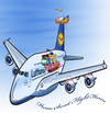 Cartoon: Airbus A380 Home (small) by llumetis tagged plane,travel,home,sweet