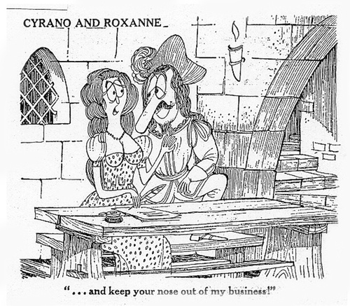 Cartoon: Cyrano (medium) by LAINO tagged cyrano,roxanne