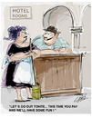 Cartoon: Hotel Rooms (small) by LAINO tagged hotel,rooms