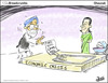Cartoon: Food Bill (small) by Shaunak S tagged manmohan,singh,food,bill,sonia,gandhi,rahul