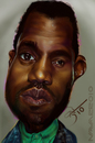 Cartoon: Kanye West (small) by salnavarro tagged caricature,fingerpainted,ipod,kanye,west