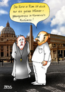 Cartoon: greiser Männergesangverein (small) by besscartoon tagged kirche,religion,katholisch,kurie,rom,vatikan,christentum,gesangverein,karneval,karnevalskostüm,greis,bess,besscartoon