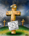 Cartoon: Nix wie weg! (small) by besscartoon tagged ostern,fest,karfreitag,aufersteheung,christentum,kirche,inri,religion,katholisch,evangelisch,kreuz,kreuzigung,jesus,bess,besscartoon