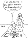 Cartoon: Öko-Pfand-Muscheln (small) by besscartoon tagged restaurant,essen,öko,pfand,muscheln,kellner,ober,fairer,handel,bess,besscartoon