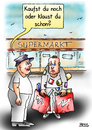 Cartoon: Überlebensfrage (small) by besscartoon tagged supermarkt,kaufen,konsum,klauen,diebstahl,armut,männer,bess,besscartoon