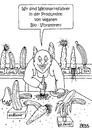 Cartoon: vegane Bio-Vibratoren (small) by besscartoon tagged karotte,banane,gurke,weltmarktführer,bio,vibratoren,vegan,sex,sexualität,bess,besscartoon