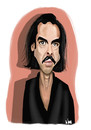 Cartoon: Nick Cave (small) by Vlado Mach tagged nick,cave