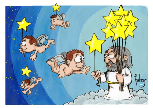 Cartoon: Estrellas (medium) by Palmas tagged stars